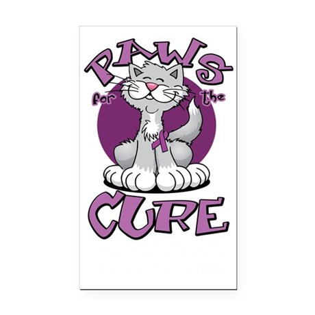 Paws-for-the-Cure-Cat-Crohns- Rectangle Car Magnet
