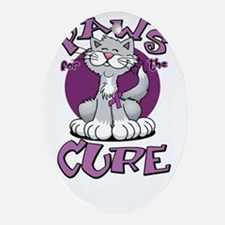Paws-for-the-Cure-Cat-Crohns-Disease Oval Ornament