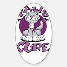 Paws-for-the-Cure-Cat-Crohns-Diseas Sticker (Oval)