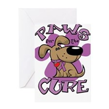 Paws-for-the-Cure-Crohns-Disease-blk Greeting Card