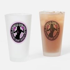 Crohns-Disease-Boxing-Girl Drinking Glass