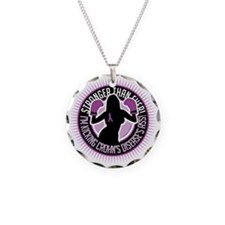 Crohns-Disease-Boxing-Girl Necklace