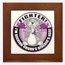 Crohns-Disease-Cat-Fighter Framed Tile
