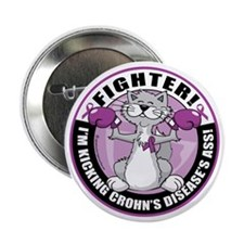 "Crohns-Disease-Cat-Fighter 2.25"" Button"