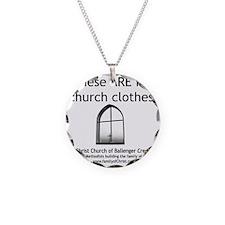 CUMC_churchclothes2_10x10_BW Necklace