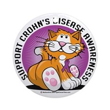 Crohns-Disease-Cat Round Ornament