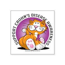 "Crohns-Disease-Cat Square Sticker 3"" x 3"""