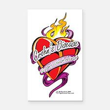 Crohns-Disease-Tattoo-Heart Rectangle Car Magnet
