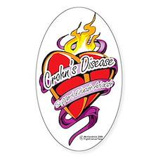 Crohns-Disease-Tattoo-Heart Decal