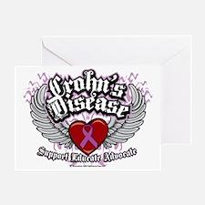Crohns-Disease-Wings Greeting Card