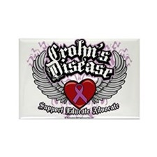 Crohns-Disease-Wings Rectangle Magnet