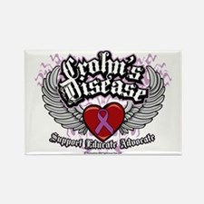 Crohns-Disease-Wings Rectangle Magnet