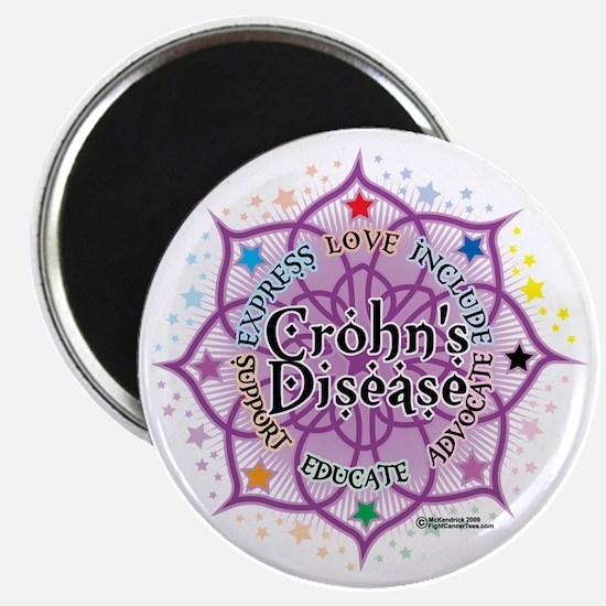 Crohns-Disease-Lotus Magnet