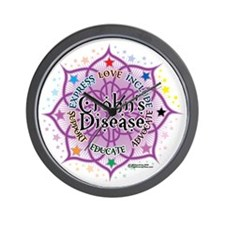 Crohns-Disease-Lotus Wall Clock