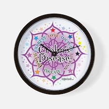 Crohns-Disease-Lotus Wall Clock