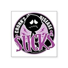 "Crohns-Disease-Sucks Square Sticker 3"" x 3"""