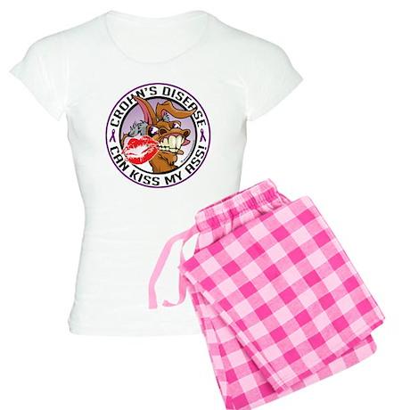 Crohns-Disease-Kiss-My-Ass Women's Light Pajamas