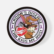 Crohns-Disease-Kiss-My-Ass Wall Clock