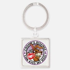 Crohns-Disease-Kiss-My-Ass Square Keychain