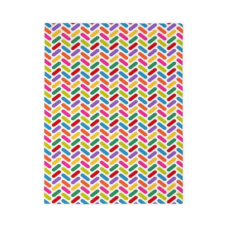 Candy Herringbone Pattern Twin Duvet By Pinkinkart2