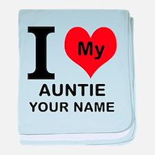 I Heart My Auntie (Custom) baby blanket