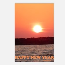 Sunset New Year 5.5x7.5 Postcards (Package of 8)