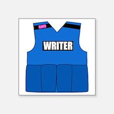 "writerbutton Square Sticker 3"" x 3"""