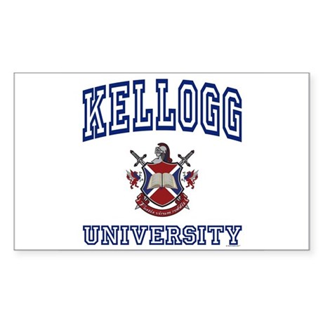 KELLOGG University Rectangle Sticker