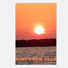 Sunset Jewish New Year Ca Postcards (Package of 8)