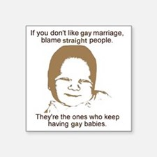 "GayMarriage Square Sticker 3"" x 3"""
