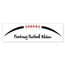 Football-Outline-Fantasy-Football Bumper Sticker