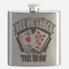 PLAYING CARDS BET OR CHECK TEXAS HOLDEM Flask