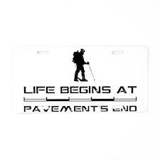 Hiking.eps Aluminum License Plate