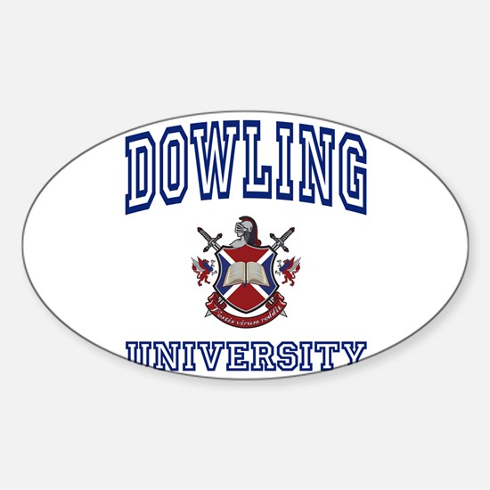 DOWLING University Oval Decal