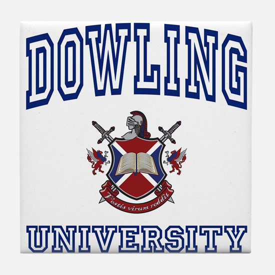 DOWLING University Tile Coaster