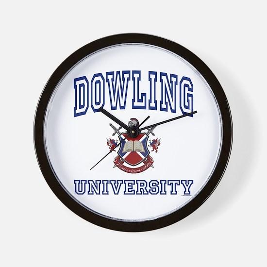 DOWLING University Wall Clock