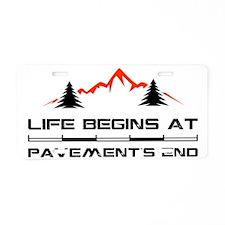 2-Mountain.eps Aluminum License Plate