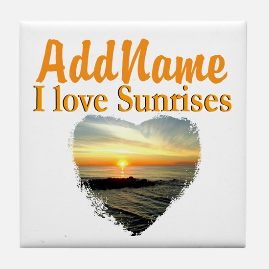 LOVE SUNRISES Tile Coaster
