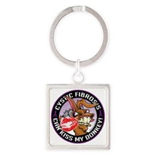 Cystic-Fibrosis-Kiss-My-Ass Square Keychain