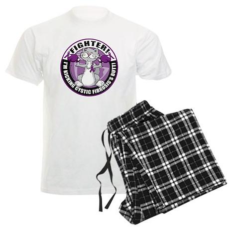 Cystic-Fibrosis-Cat-Fighter Men's Light Pajamas