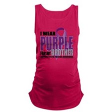 Cystic-Fibrosis-Purple-for-BROT Maternity Tank Top