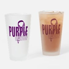 Cystic-Fibrosis-Purple-for-Grandson Drinking Glass