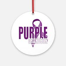 Cystic-Fibrosis-Purple-for-Grandson Round Ornament