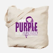 Cystic-Fibrosis-Purple-for-Grandson-blk Tote Bag