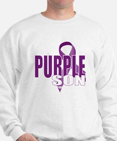 Cystic-Fibrosis-Purple-for-Son-blk Sweatshirt