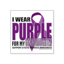 """Cystic-Fibrosis-Purple-for- Square Sticker 3"""" x 3"""""""