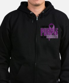Cystic-Fibrosis-Purple-for-Grand Zip Hoodie