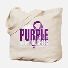 Cystic-Fibrosis-Purple-for-DAUGHTER-blk Tote Bag