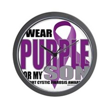 Cystic-Fibrosis-Purple-for-Son Wall Clock