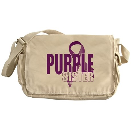 Cystic-Fibrosis-Purple-for-SISTER-bl Messenger Bag
